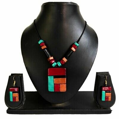 Terracotta Jewellery Necklace Set - NL410