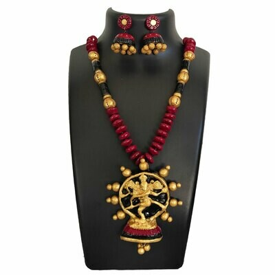 Terracotta Jewellery Necklace Set - NH550