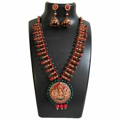 Terracotta Jewellery Necklace Set - NH560