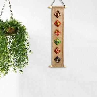 Shagun :Auspicious Symbols Wall Hanging ART300
