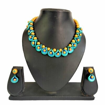 Terracotta Jewellery Necklace Set - NH590