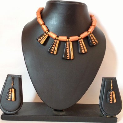 Terracotta Jewellery Necklace Set - NH101