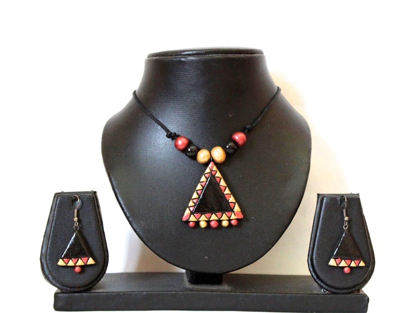 Terracotta Jewellery Necklace Set - NL076