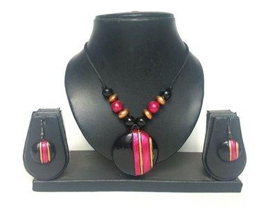 Terracotta Jewellery Necklace Set - NL080