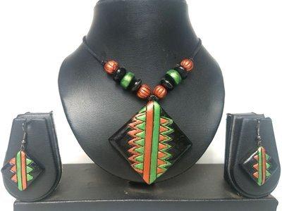Terracotta Jewellery Necklace Set - NL081