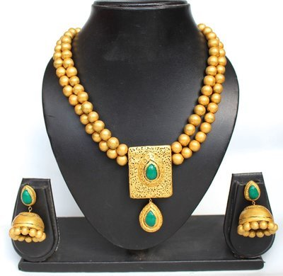 Terracotta Jewellery Necklace Set - NH115