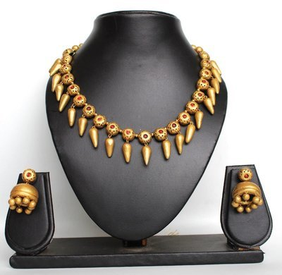 Terracotta Jewellery Necklace Set - NH117