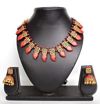 Terracotta Jewellery Necklace Set - NH118