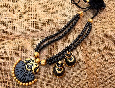 Terracotta Jewellery Necklace Set - NH111