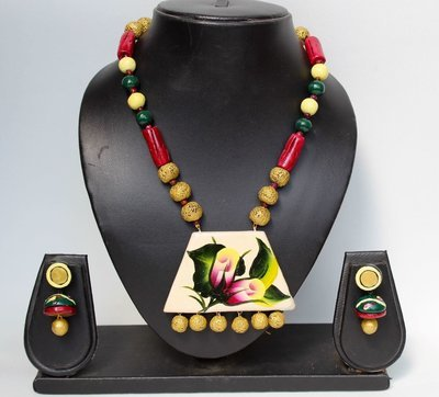 Terracotta Jewellery Necklace Set - NH121