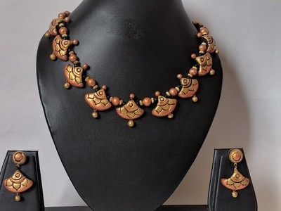 Terracotta Jewellery Necklace Set - NH057