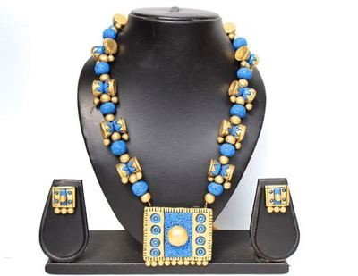 Terracotta Jewellery Necklace Set - NH200