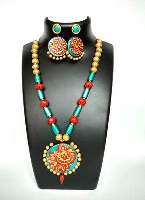 Terracotta Jewellery Necklace Set - NH122