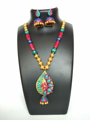 Terracotta Jewellery Necklace Set - NH125