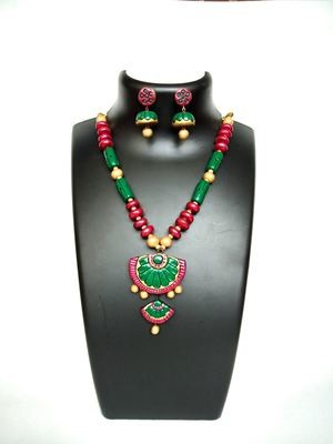 Terracotta Jewellery Necklace Set - NH126