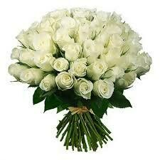 101 White Roses Bouquet