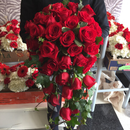 Red Roses Bridal Bouquet