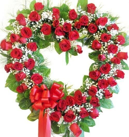 Heart Shaped Floral Arrangement