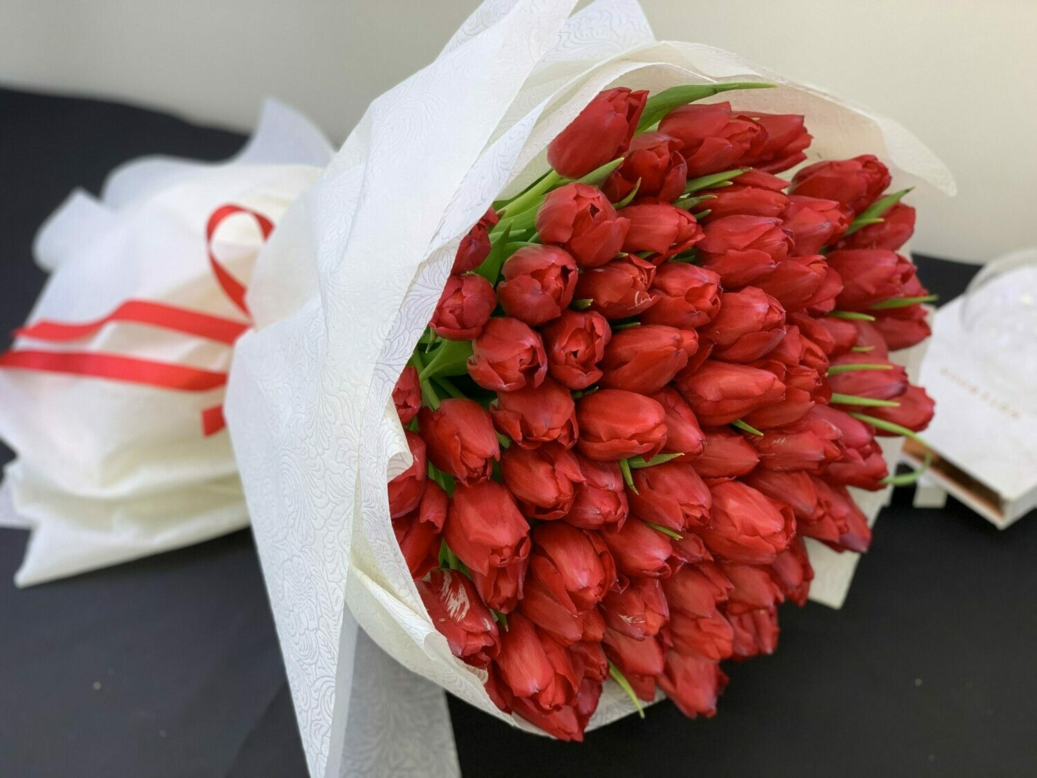 51 Red Tulips Bouquet