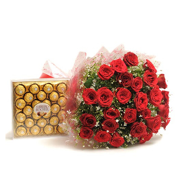 Roses With Chocolate (Combo)