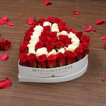 Roses In A Heart Box