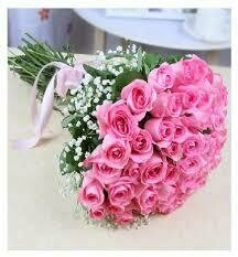 Pink Roses Hand Tied Bouquet
