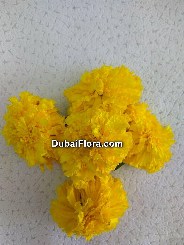 Yellow Marigold Flowers Loose (Genda)