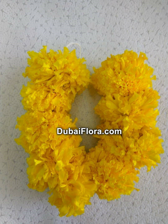 Yellow Marigold Strings (Genda)