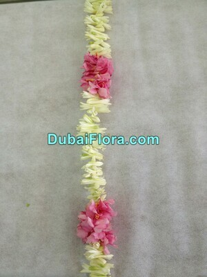 White Tuberose and Pink Oleander Flower Strings