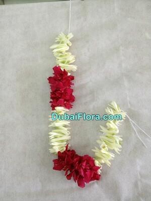 White Tuberose and Red Oleander Flower Strings