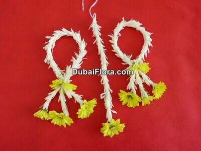 Flower Earrings and Bindi