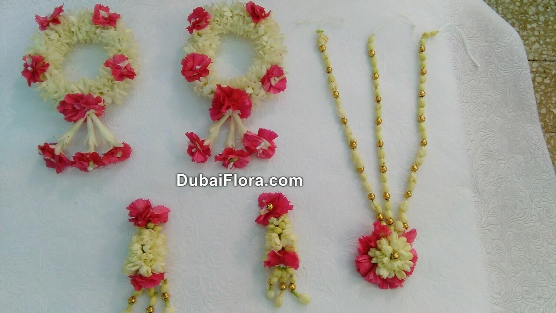 Bridal Flower Jewellery Set