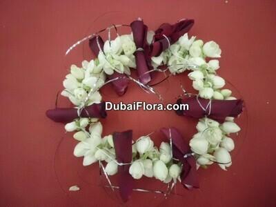 Jasmine Kangan Bracelet with Rose Petals (2 Pieces)