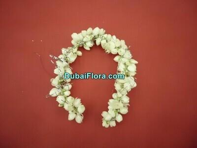 White Jasmine Bracelet Kangan (2 Pieces)