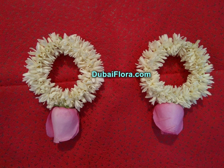 Tuberose Bracelet with Rose (2 Pieces)