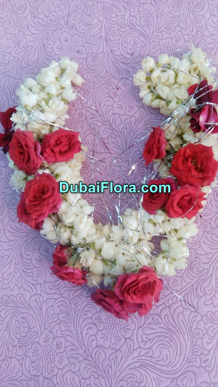 Jasmine Flower (Gajra) for Hair with Roses