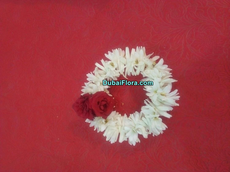 Tuberose Flower Bracelet with Roses (2 Pieces)