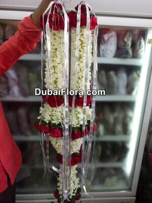 Tuberose and Red Roses Garland