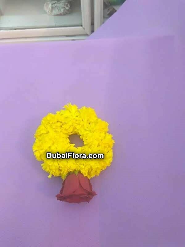 Marigold Bracelet Kangan with Rose (2 Pieces)