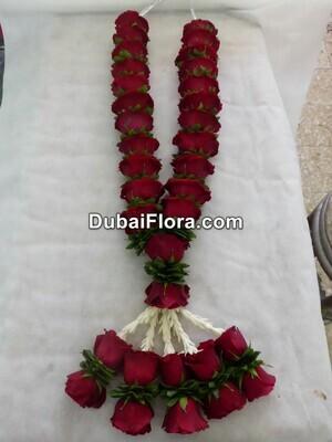Red Roses and Tuberose Garland