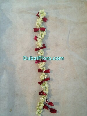 Jasmine and Rose String (Gajra) For Head with Rose Petals
