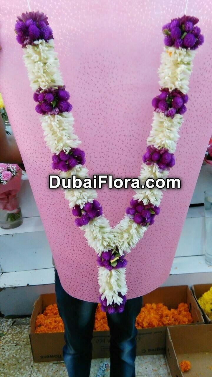 Tuberose and Vadamalli Flower Garland