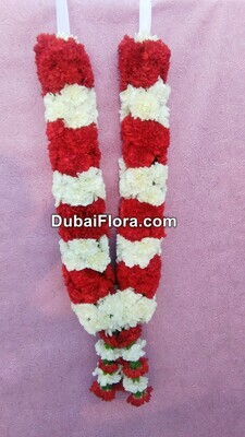 Red and White Carnation Garland