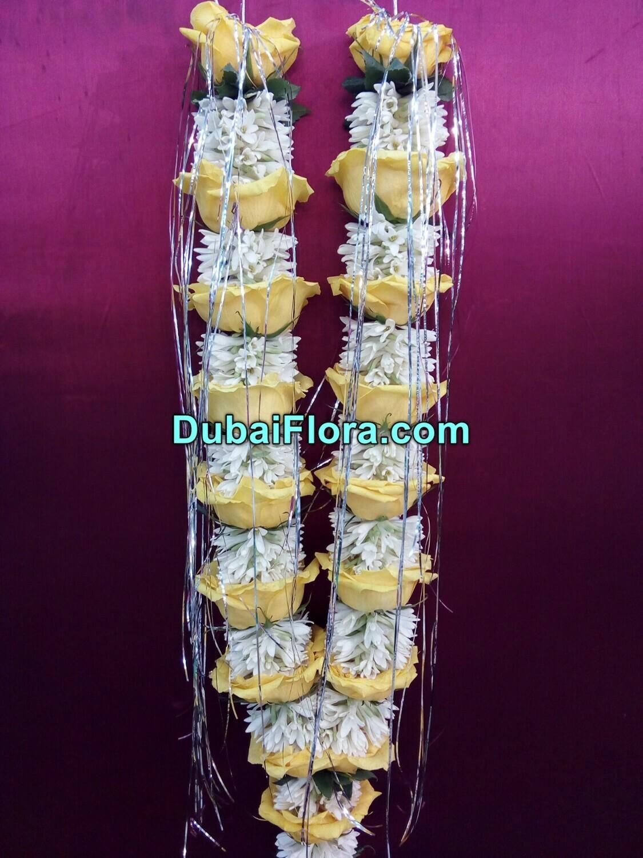 Yellow Roses and Tuberose Garland