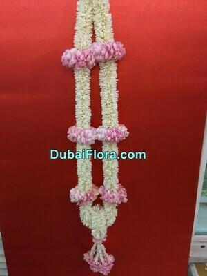 Tuberose and Pink Roses Garland