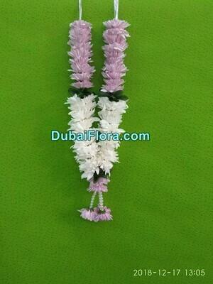 Pink and White Chrysanthemum Garland