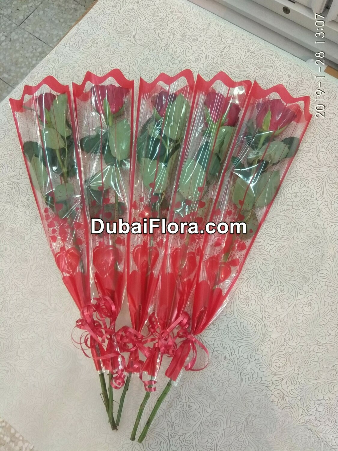 Single Red Roses