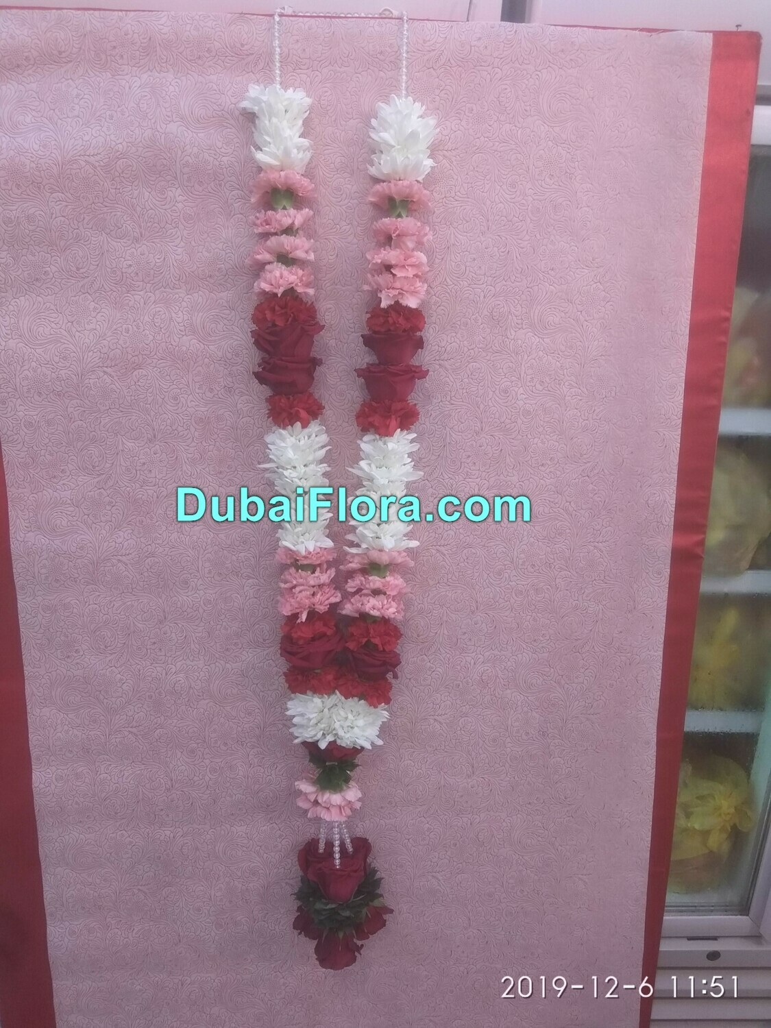 Chrysanthemum and Carnation Garland with Roses