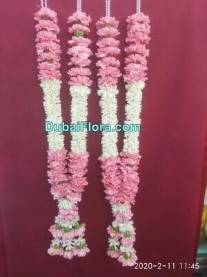 Pair of Pink Chrysanthemum Garland