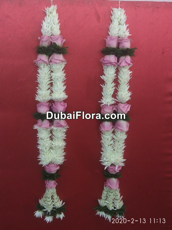 Pair of Tuberose and Roses Garland (Haar)